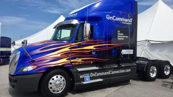 Navistar officially announced the availability of OnCommand Connection Telematics at the Walcott Truckers Jamboree in Iowa.