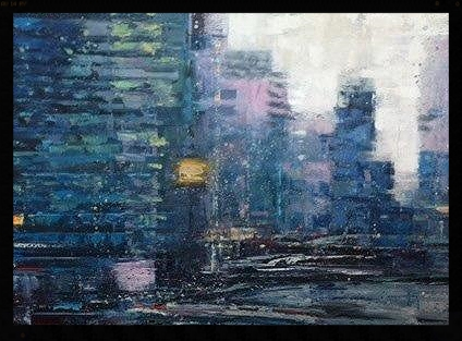 "NYC 1, 30""x40, oil on canvas"