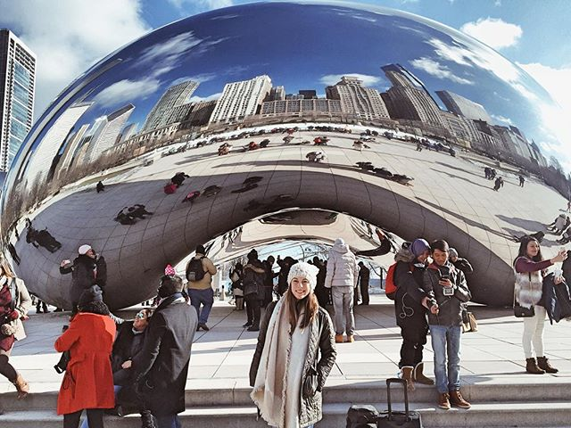 Got to spend my birthday weekend in Chicago this past weekend!  It was cold, but amazing!  Missing the Windy City already 😍 #fashionblogger #travelblogger #travel #birthdayweekend #chicago