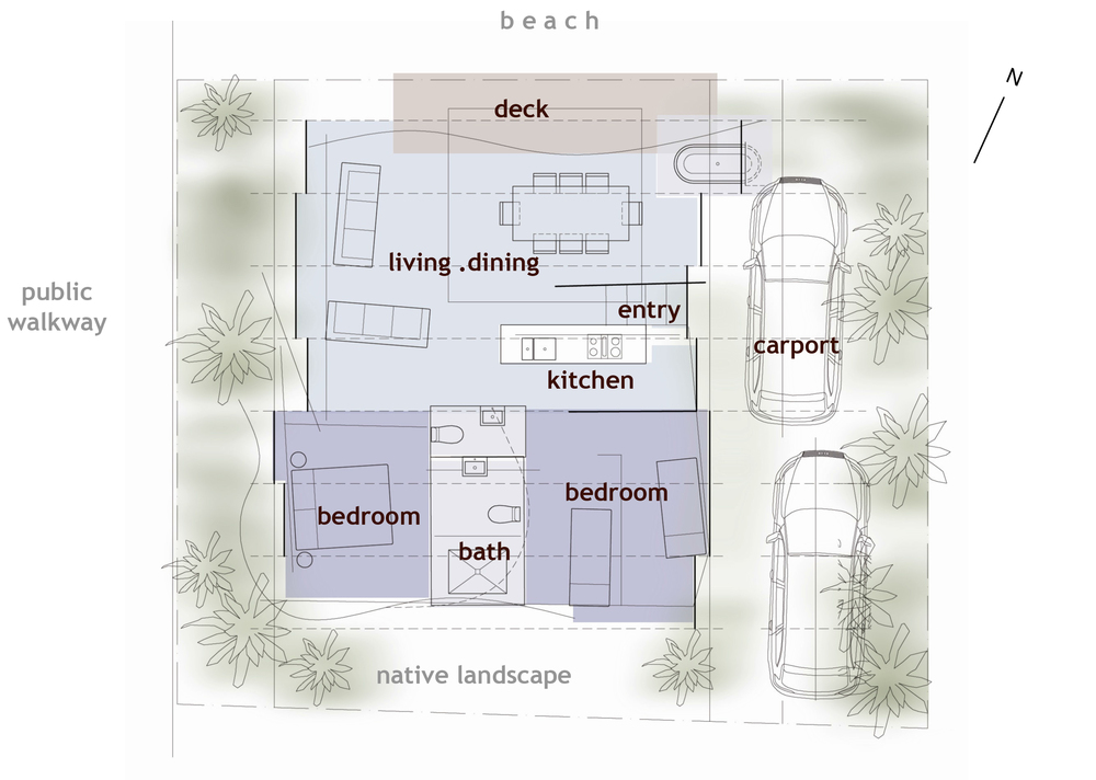 Internal layout was optimised for the best views of the beach