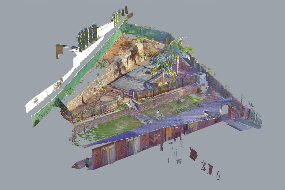 Point Cloud reconstructs the site as data pathways