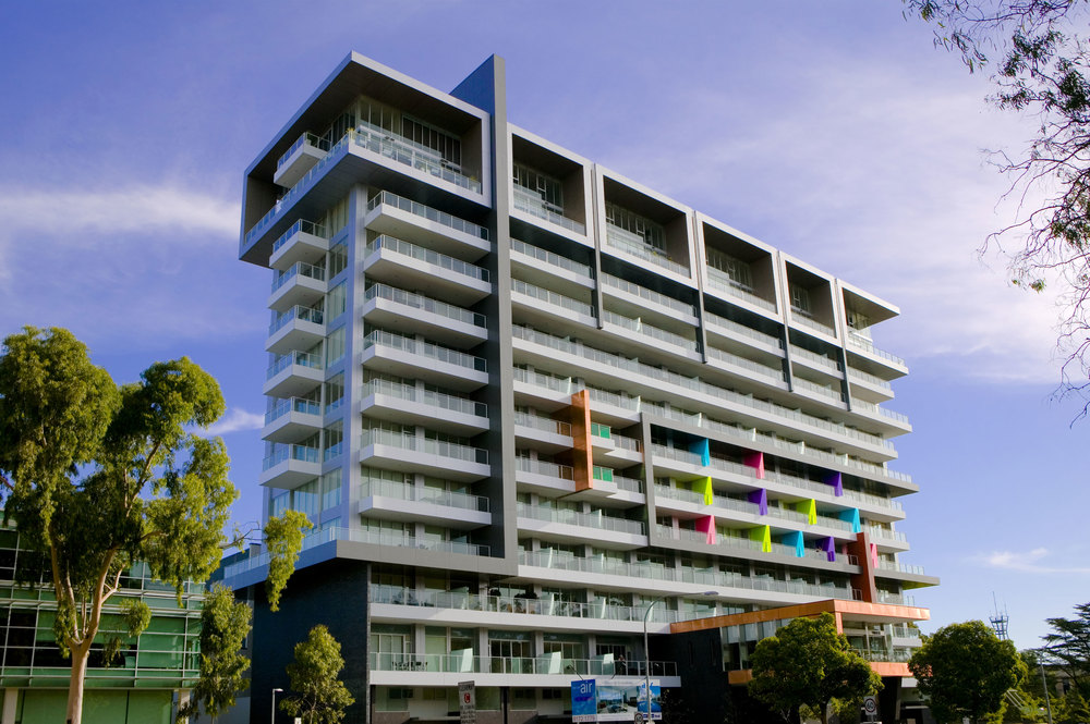 Colour was a key design choice to provide excitement to the facade