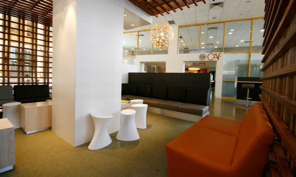 The cafeteria becomes a social meeting place for students and staff alike