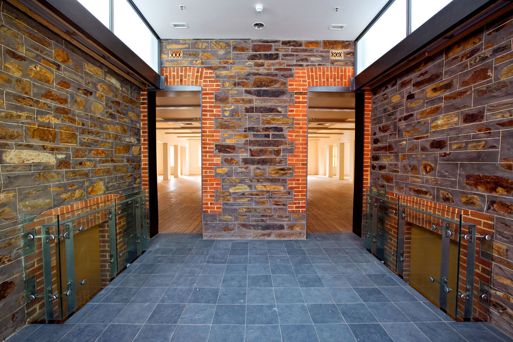 Existing heritage is emphasised through clever natural lighting