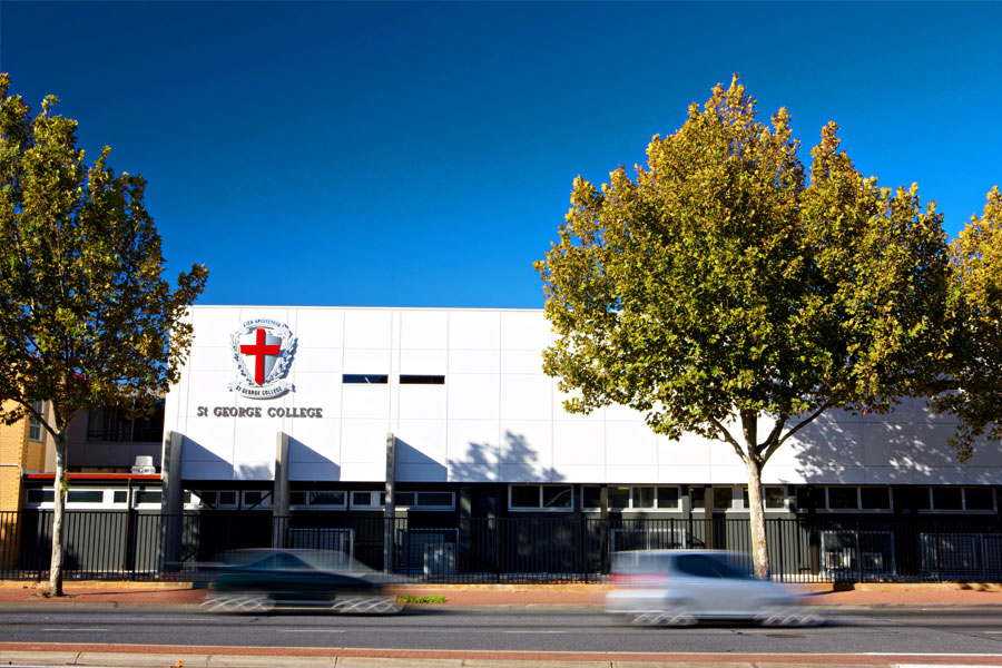 From street-view, the building acts as a brand for the school itself