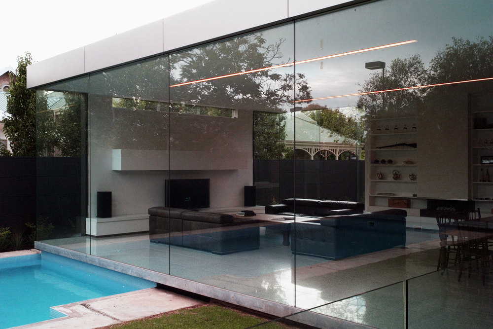 Floor to ceiling glass brings the outside in