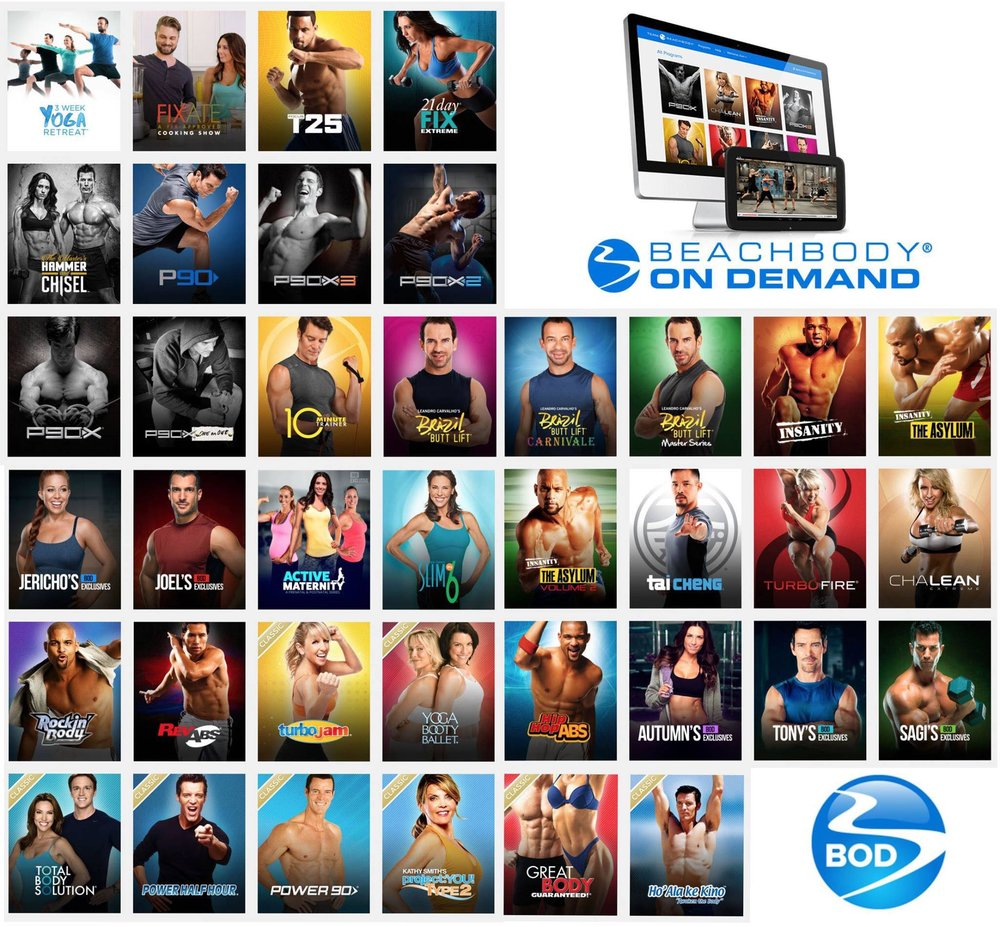 Just a few examples of the workouts you'll have COMPLETE access to with your Beachbody OnDemand subscription.