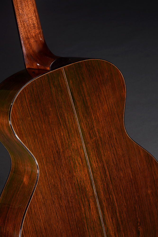 Brazilian Rosewood back and sides, Mahogany neck