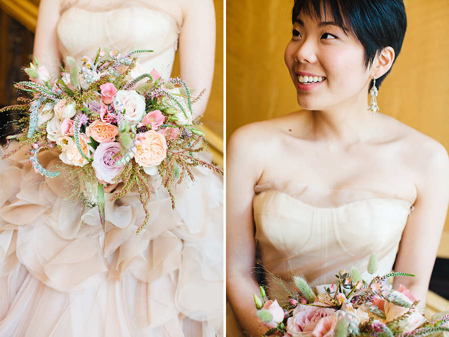 Hannah & Tj Beautiful Wedding at the Four Seasons Boston - Vera Wang Dress