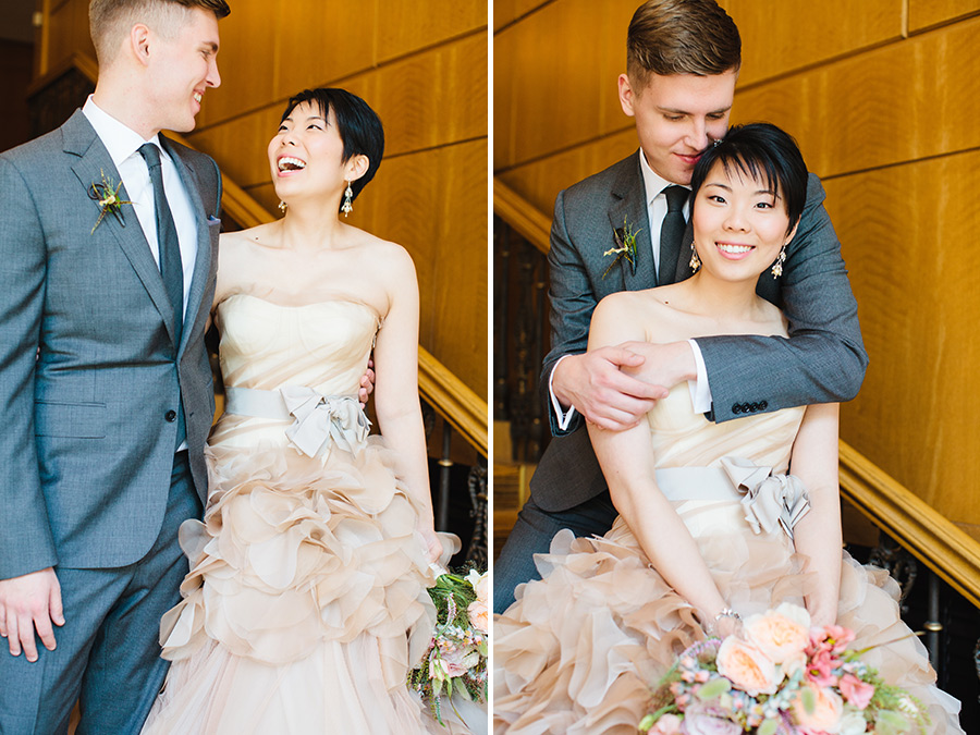 Hannah & Tj Beautiful Wedding at the Four Seasons Boston - Bride in Vera Wang Hayley Dress