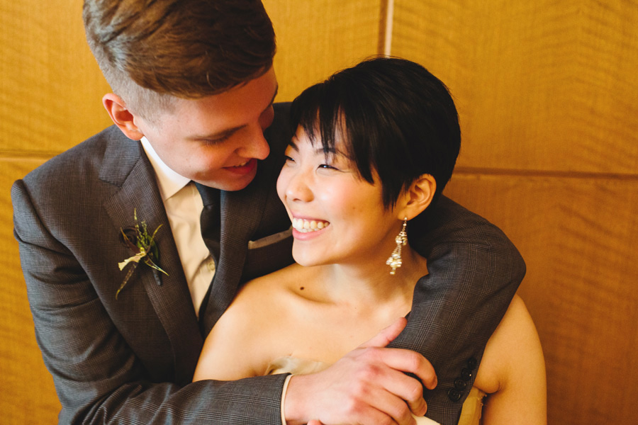Hannah & Tj Beautiful Wedding at the Four Seasons Boston - couple smiling and excited