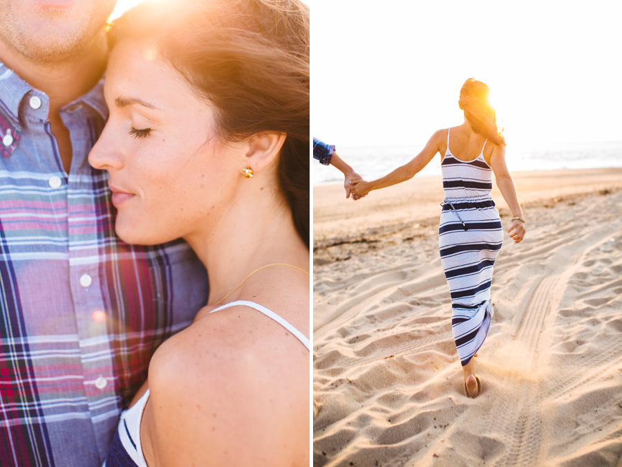 Jenny & Rob's beautiful and romantic sunset Race Point Beach engagement photography in Provincetown, MA (9)