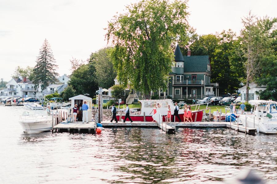 Michaeleen & Sean wedding boat ride on winnipesaukee