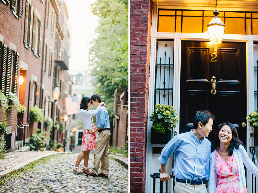 Ting & Dan's Boston Beacon Hill and Esplanade Engagement Photography (2)
