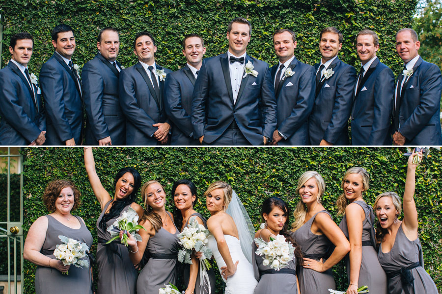 wedding party downtown celebrating and having fun in charleston, SC southern weddings photographer