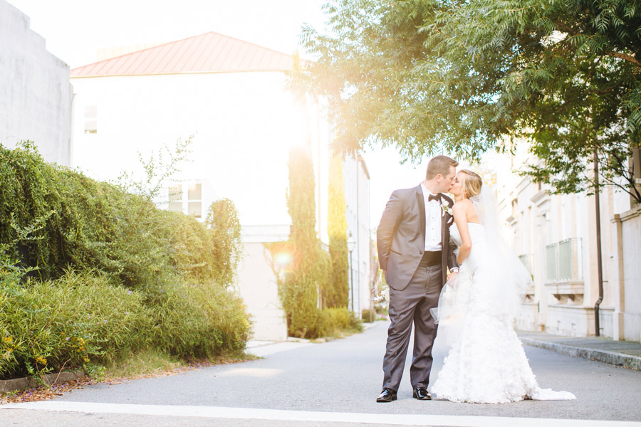 Charleston, SC Downtown and Lowndes Grove Plantation beautiful bride and groom wedding photos