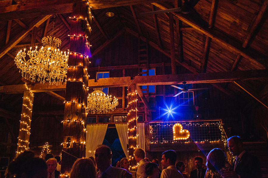 evening reception at the bishop farms in lisbon, nh rustic inspired stylish barn wedding in new england photography