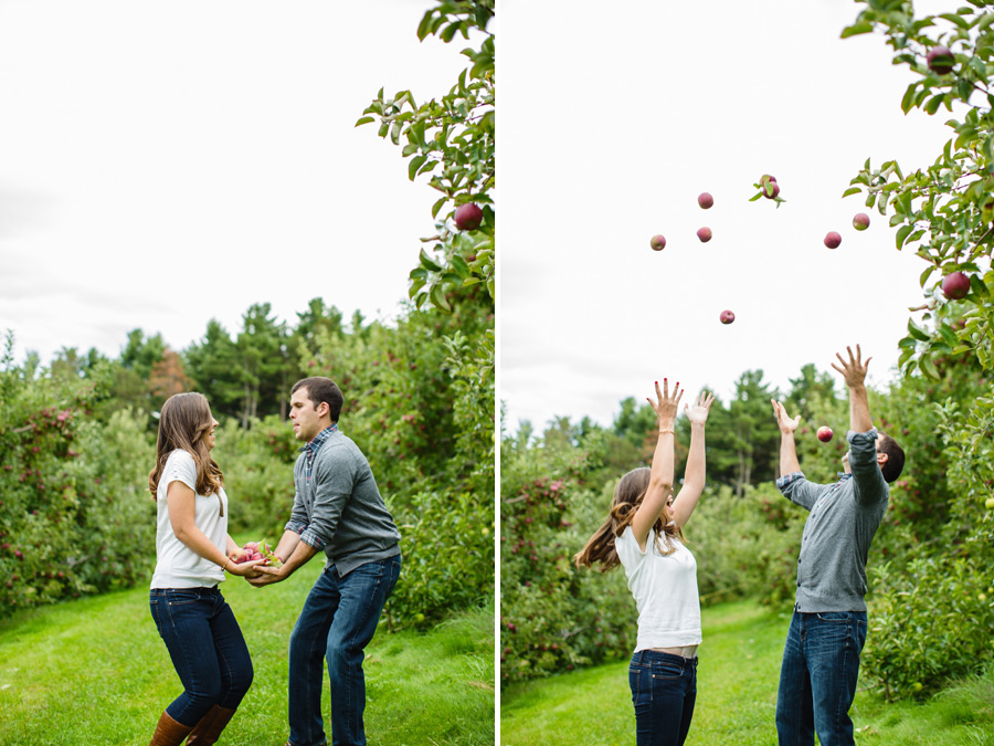 Sarah & Shawn Honey Pot Hill Orchards Engagement Session Photography (14)