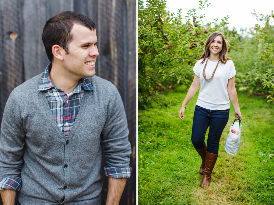 Sarah & Shawn Honey Pot Hill Orchards Engagement Session Photography (4)
