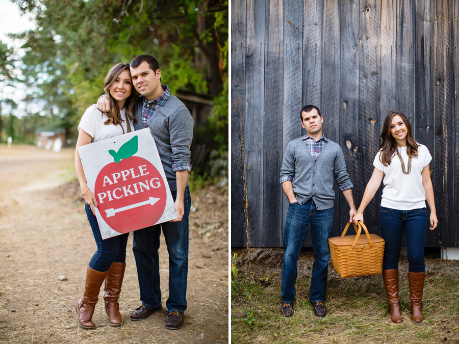Sarah & Shawn Honey Pot Hill Orchards Engagement Session Photography (2)