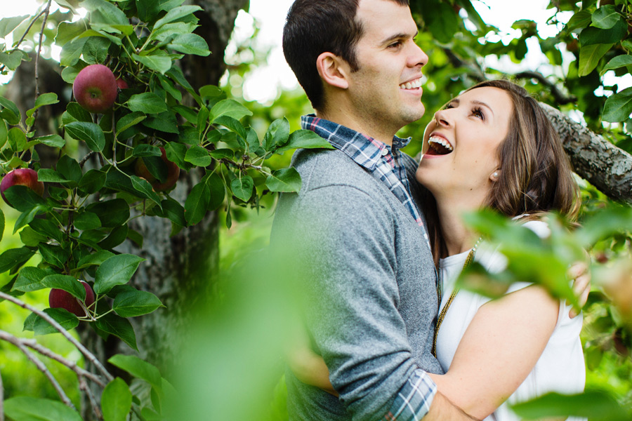 Sarah & Shawn Honey Pot Hill Orchards Engagement Session Photography (12)