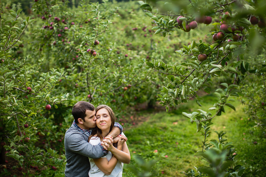 Sarah & Shawn Honey Pot Hill Orchards Engagement Session Photography (11)