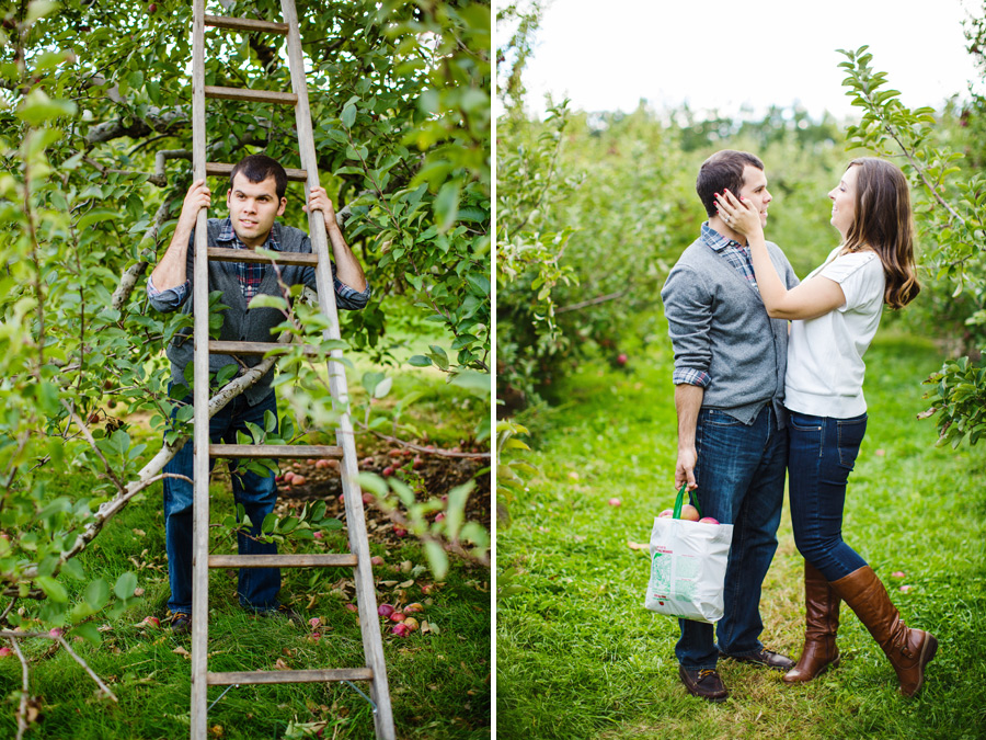Sarah & Shawn Honey Pot Hill Orchards Engagement Session Photography (10)