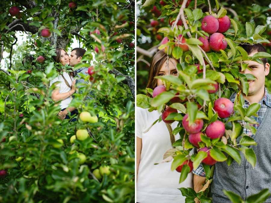 Sarah & Shawn Honey Pot Hill Orchards Engagement Session Photography (8)