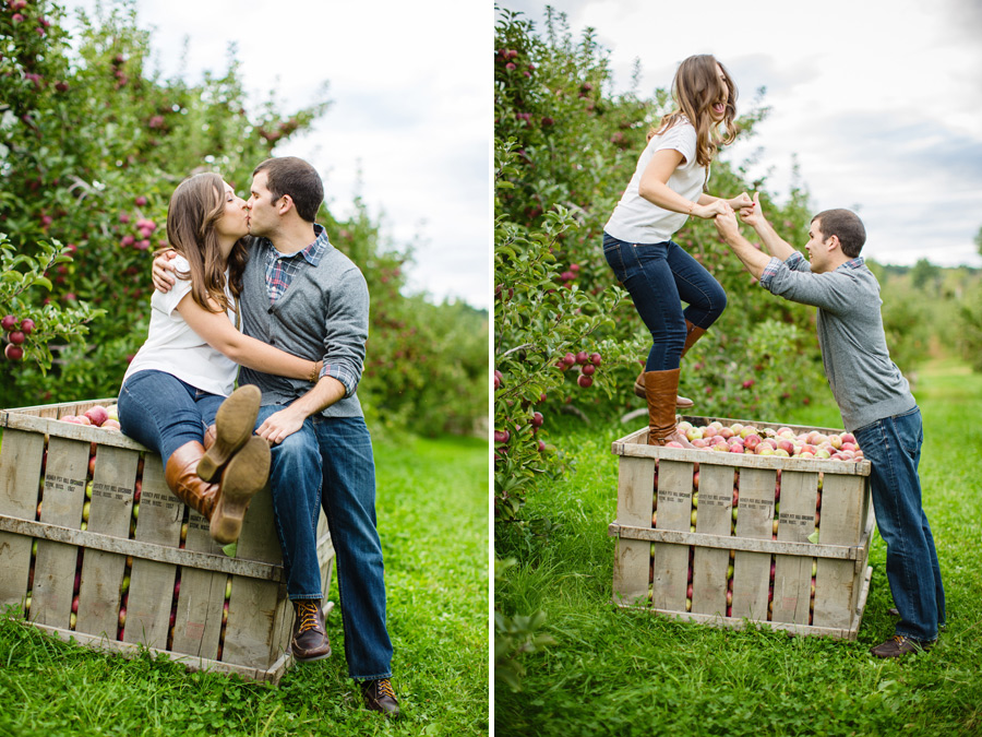 Sarah & Shawn Honey Pot Hill Orchards Engagement Session Photography (6)