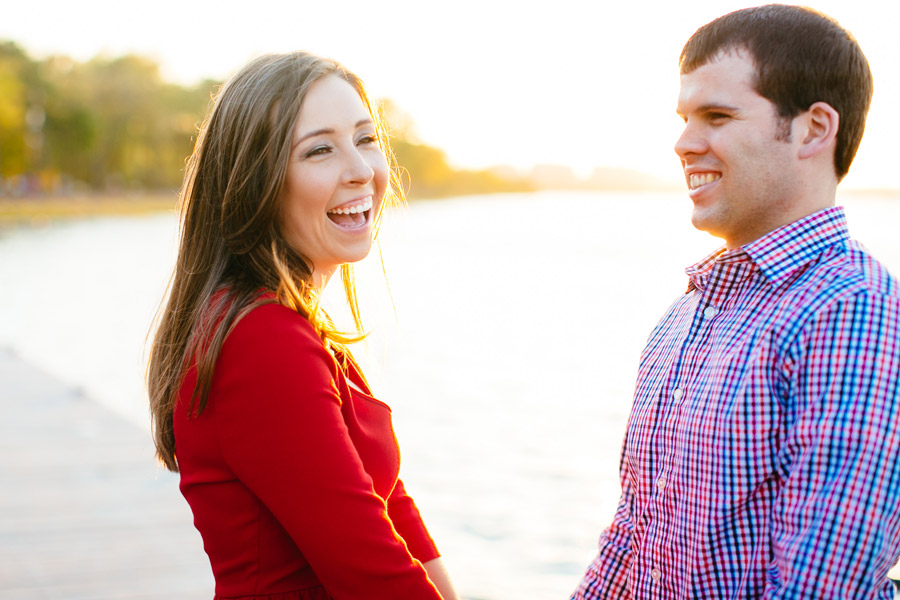 Sarah & Shawn engagement photography at the Esplanade in Boston during a beautiful sunset - Boston Photographers