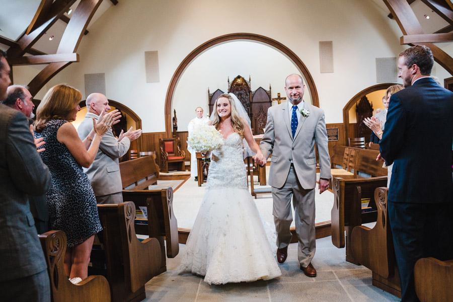 beautiful wedding at salve regina our lady of mercy chapel in newport ri