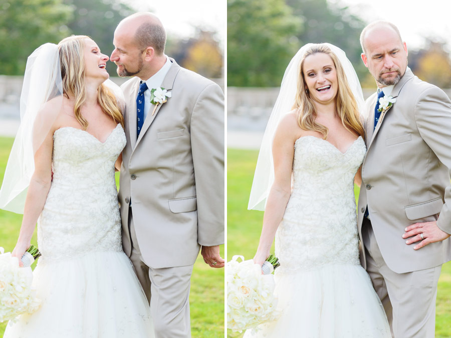 beautiful wedding couple holding each other at the cliff walk mansions in newport, ri - wedding photography