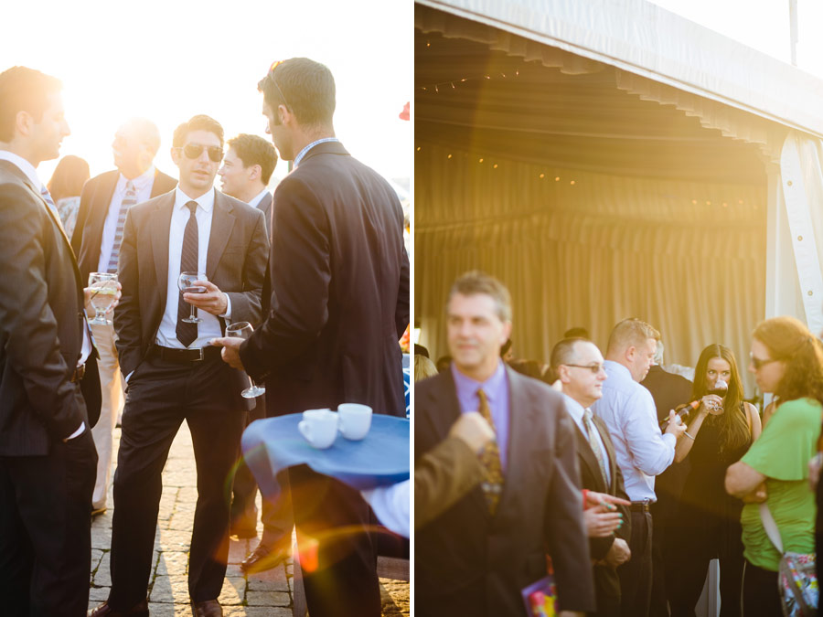 Amy & Jay Wedding at the Newport Yachting Center in newport, RI  during sunset