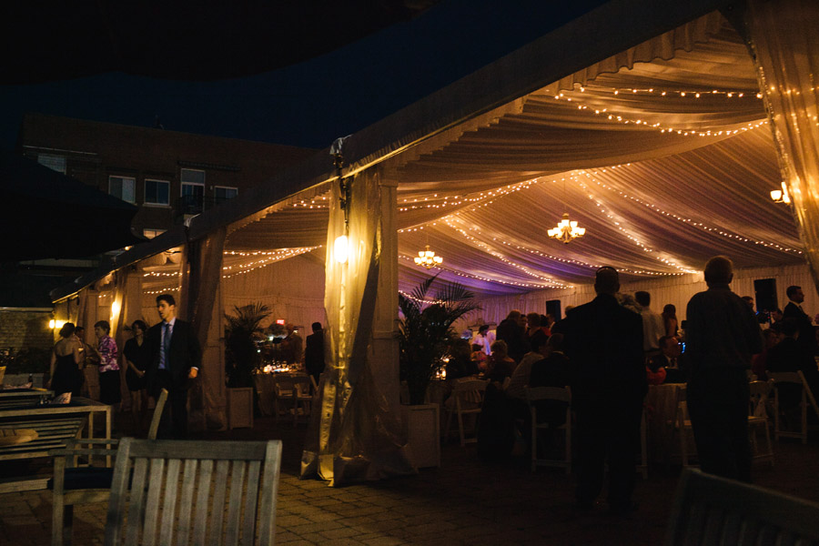evening tent reception in newport, ri at the newport yachting center wedding photography