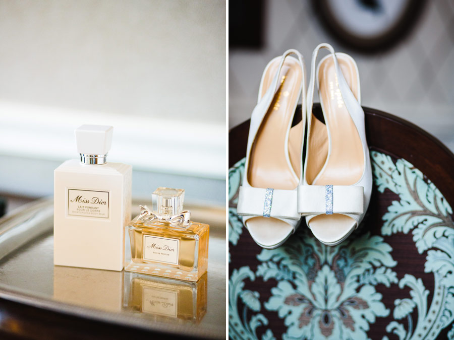 brides kate spade wedding shoes at the viking hotel in newport, ri - wedding photography
