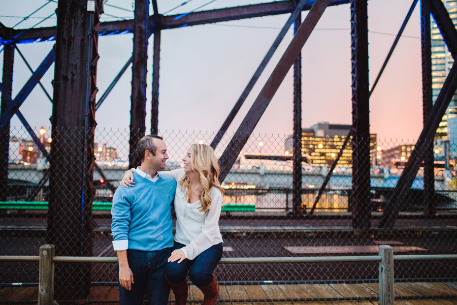 John & Cate's awesome downtown boston engagement photography during a beautiful boston sunset