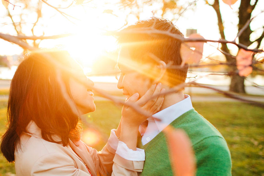 Ting & Dan's Beautiful engagement photography at harvard university beautiful light and sunset- Boston wedding photographers (6)