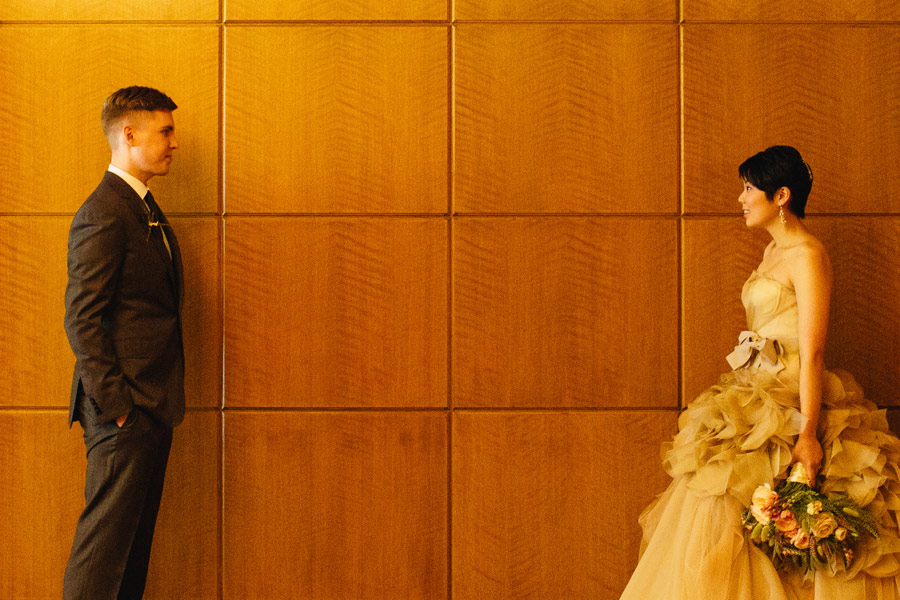 beautiful luxurious wedding at the four seasons in boston - vera wang dress with ralph lauren suit