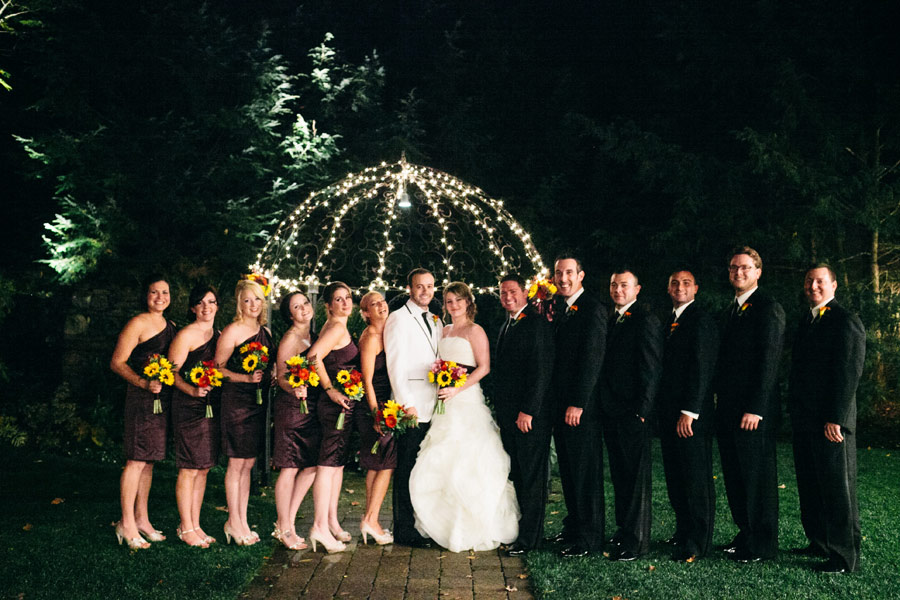 New hampshire wedding photographers - granite rose wedding at night  -wedding party photo formals
