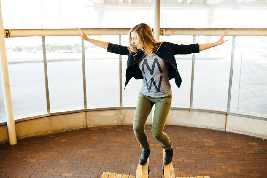 Boston actress kate paulsen having fun in alewife station photography