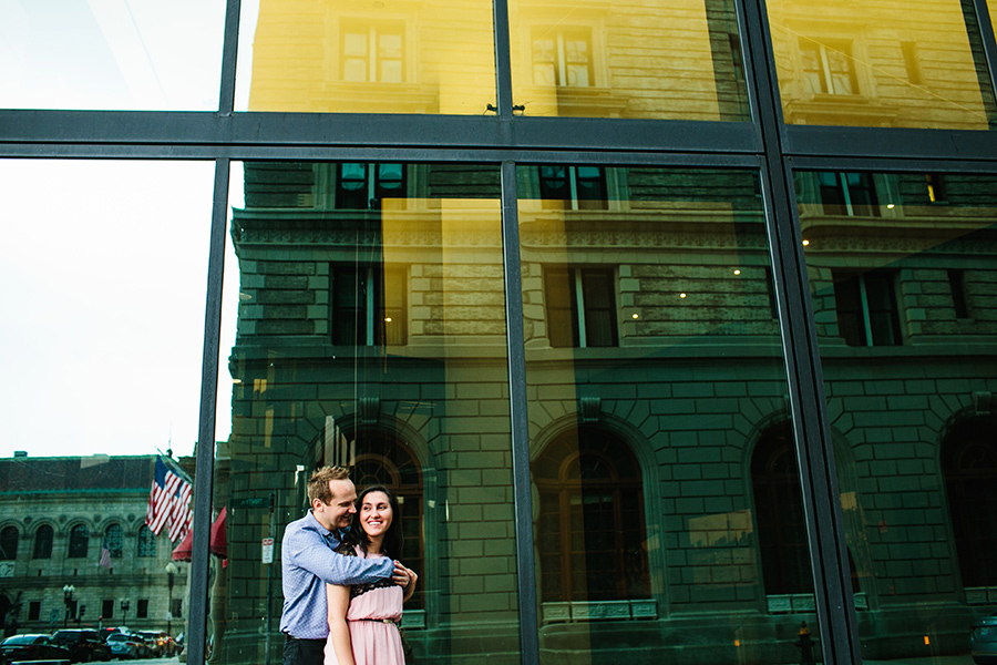 boston downtown engagement photography