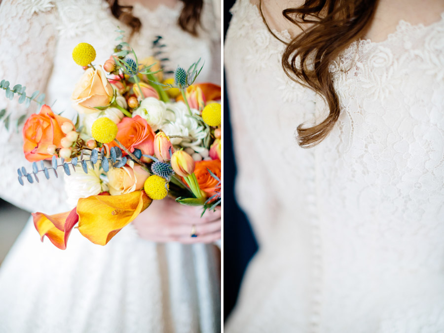 rustic bride dress details