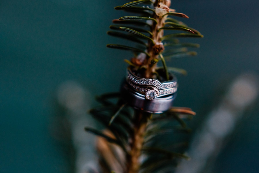 Beautiful Rustic Winter wedding in Cooperstown, NY Wedding Photography ring closeup