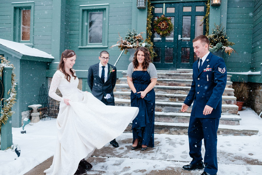 Beautiful Rustic Winter wedding in Cooperstown, NY Wedding Photography