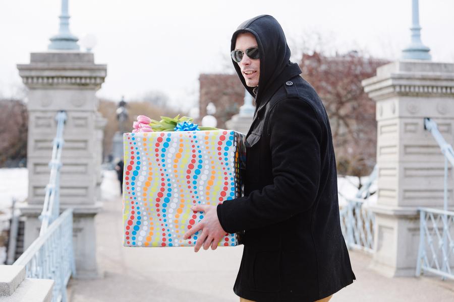 Boston public gardens proposal she said yes (1)
