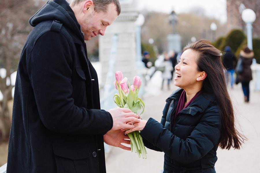 Boston public gardens proposal she said yes (14)