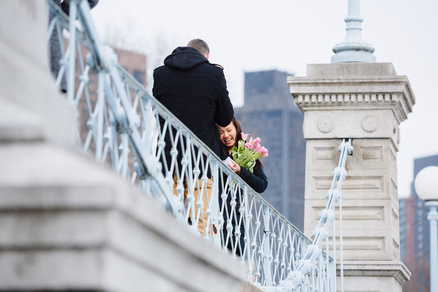 Boston public gardens proposal she said yes (6)