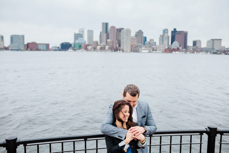 Piers Park water front boston engagement photographer