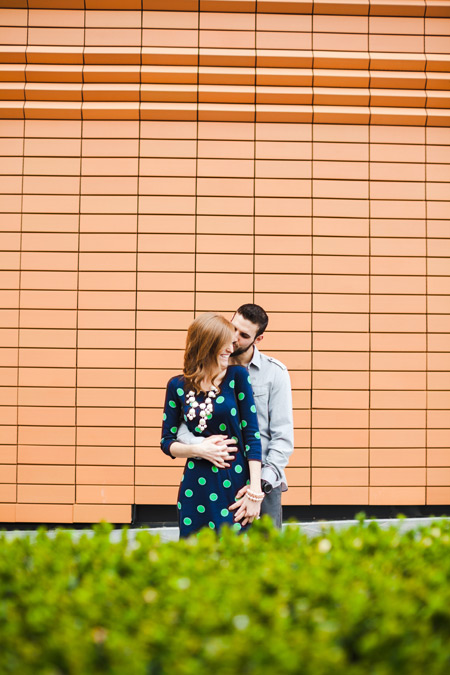 Uptown Charlotte, NC Engagement photographer art musuem
