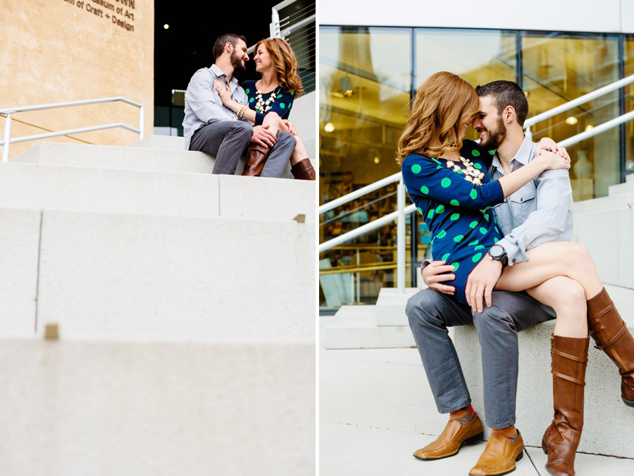 uptown charlotte north carolina engagement photography